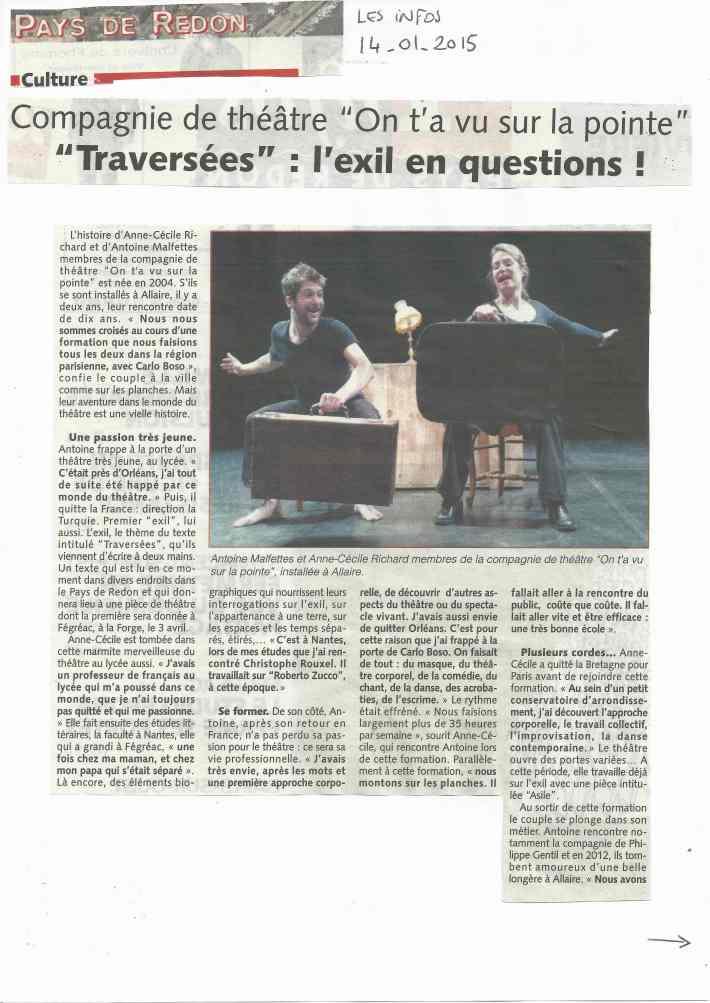 article Les infos Pays de Redon 14.01.15